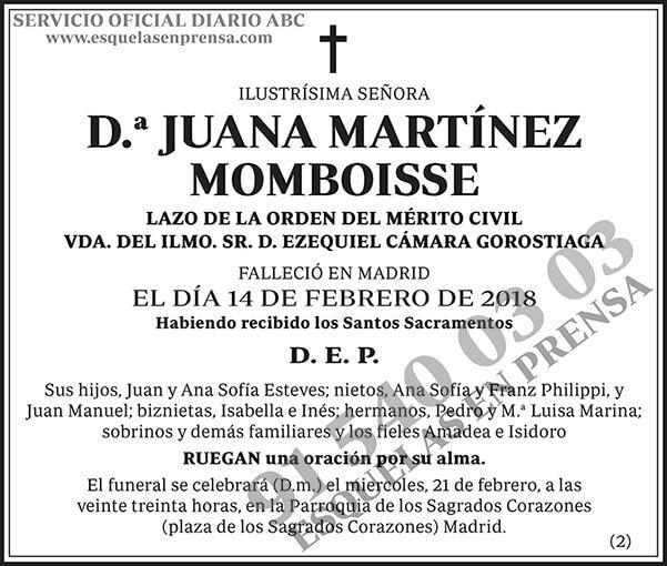 Juana Martínez Momboisse